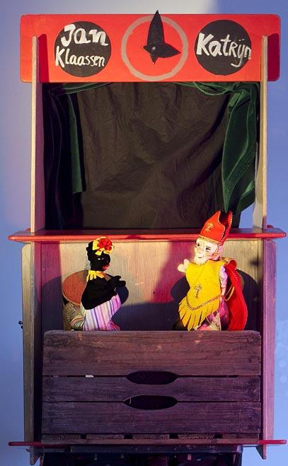 Poppenkast met Jan Klaassen en Katrijn en Sinterklaas en Piet