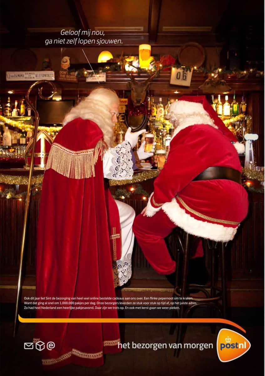 Sinterklaas in campagne PostNL